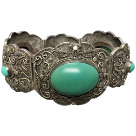 vintage-1930s-chinese-export-chunky-filigree_turquoise-bracelet Beryl Lane - Home